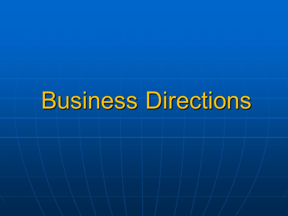 Business Directions