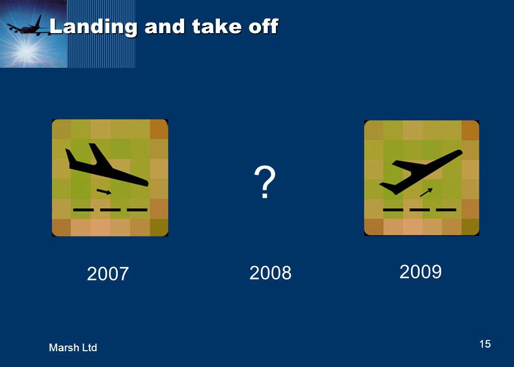 15 Marsh Ltd Landing and take off 2007 2008 2009 ?