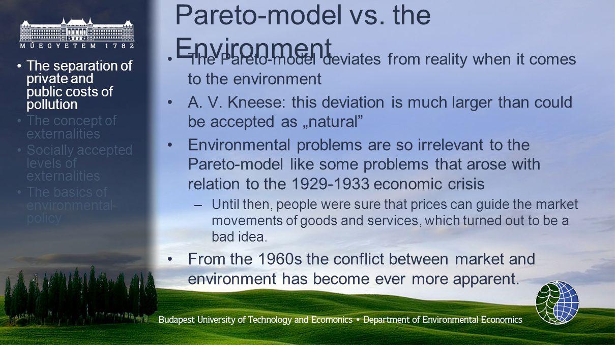 Pareto-model vs.