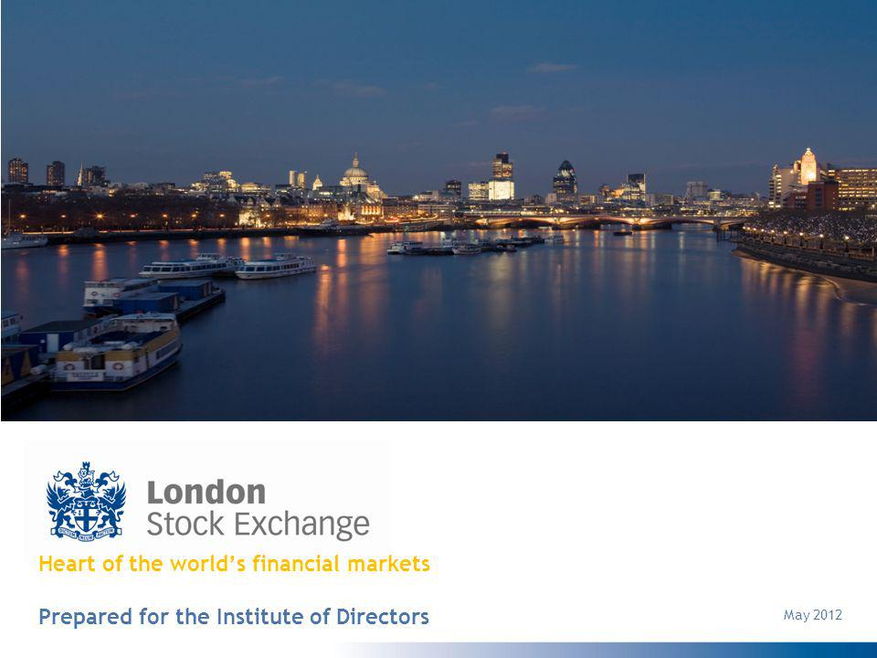 Heart of the worlds financial markets Prepared for the Institute of Directors May 2012