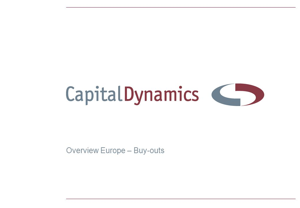 Overview Europe – Buy-outs