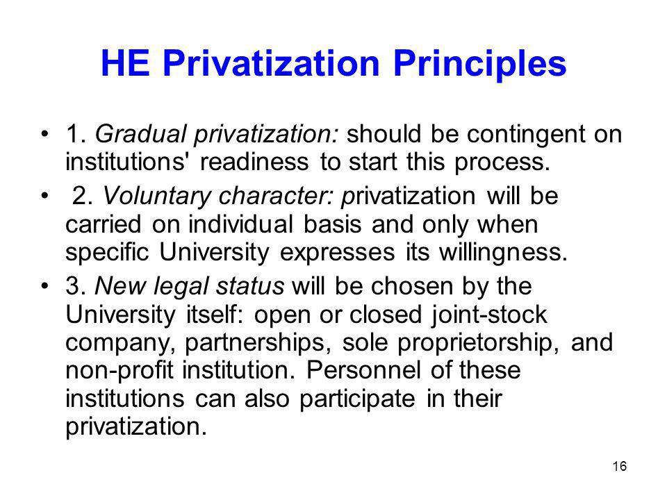 16 HE Privatization Principles 1.