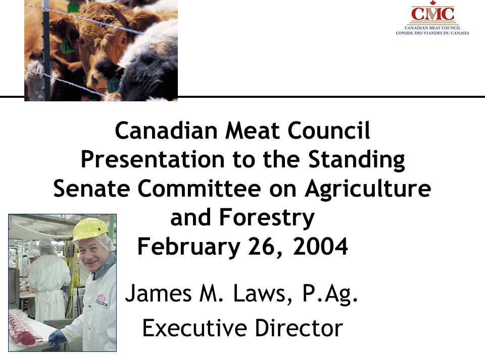 Canadian Meat Council Presentation to the Standing Senate Committee on Agriculture and Forestry February 26, 2004 James M.