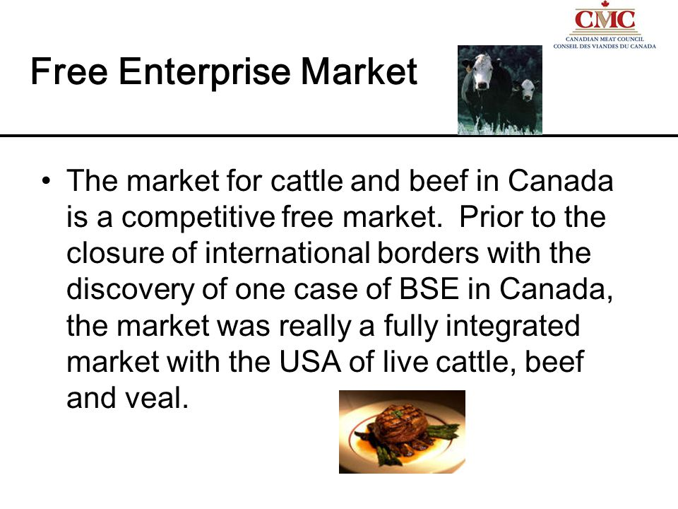 The first market is the market for young feeder cattle.