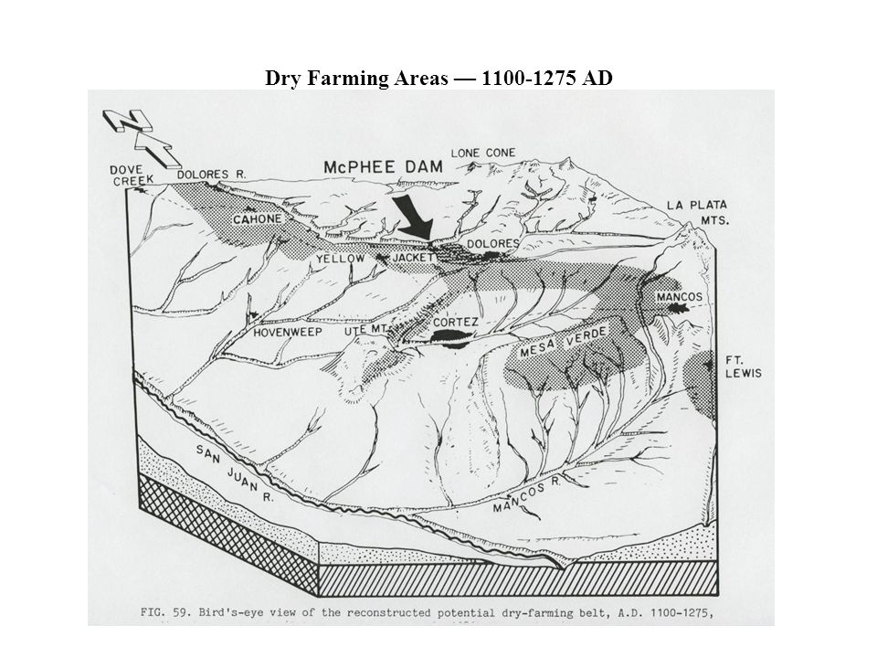 Dry Farming Areas 1100-1275 AD