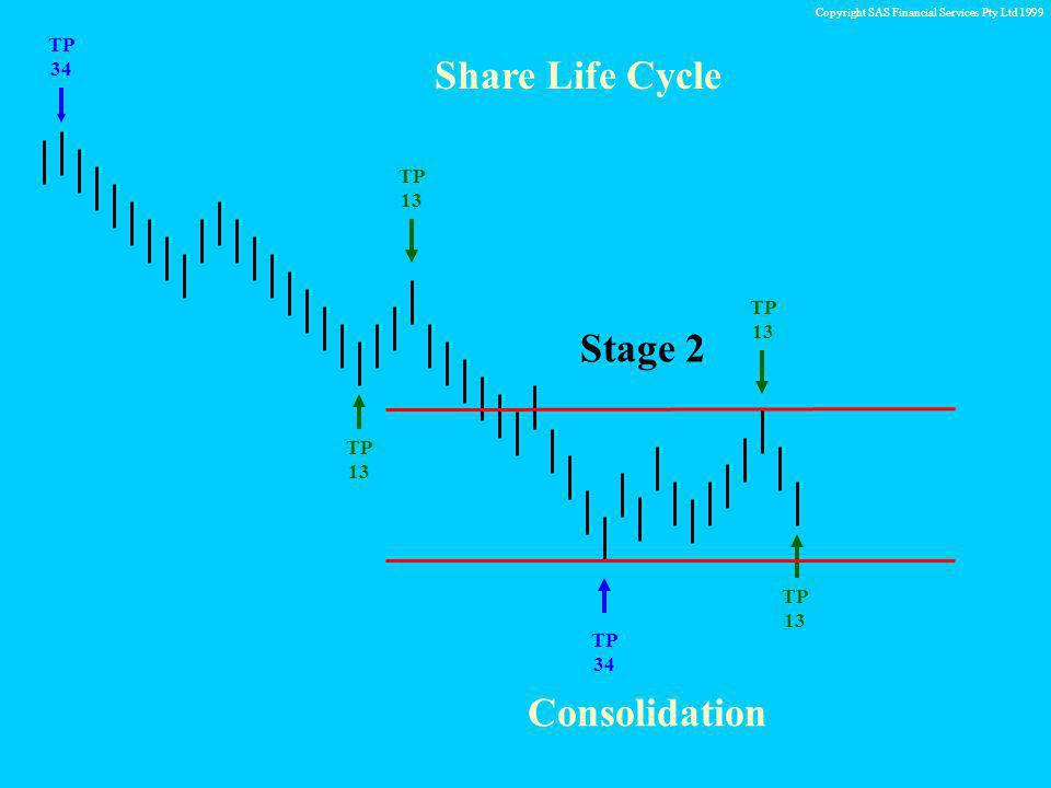 Copyright SAS Financial Services Pty Ltd 1999 TP 34 TP 13 Share Life Cycle TP 13 TP 13 Stage 2 Consolidation
