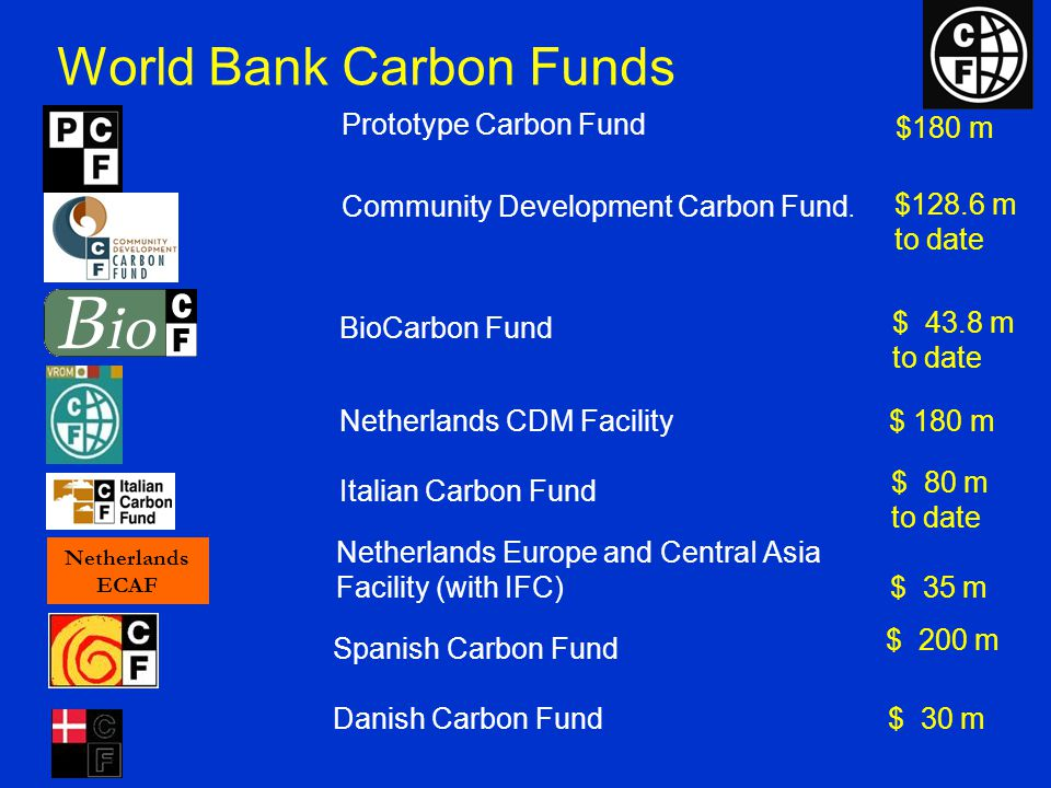 Conclusions Carbon finance: Lowers compliance costs Improves returns on climate-friendly projects Provides a bankable revenue stream Is taking off: Kyoto enters into force 1/4/05 World Bank Group can help: Provide a combination of carbon finance and underlying financing Handle CDM registration process Help develop capacity