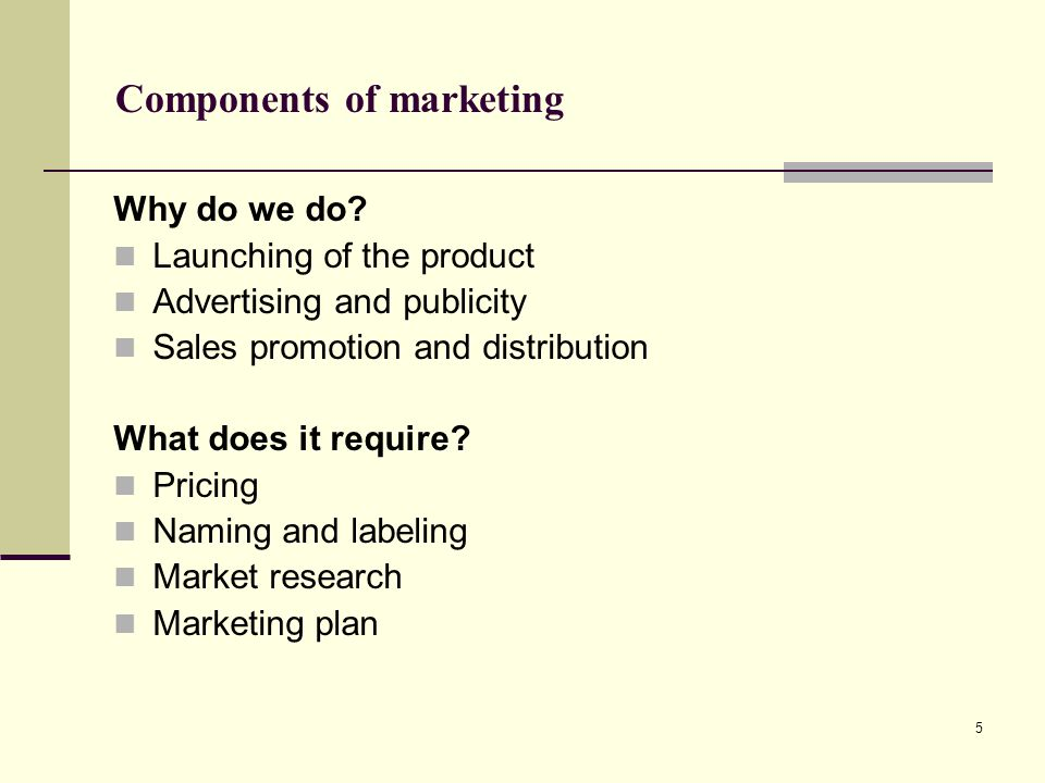 6 What do we need to know.MARKET SIZE Why.