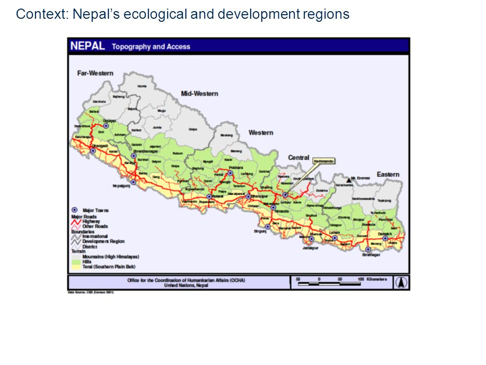 4 Context: Nepals ecological and development regions