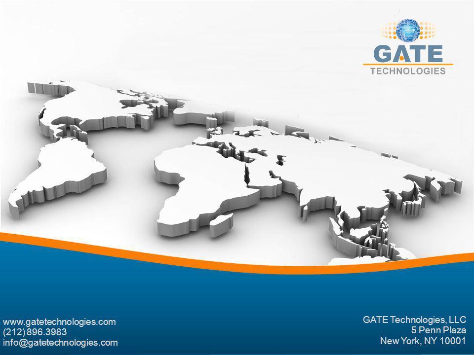 GATE Technologies, LLC 5 Penn Plaza New York, NY 10001 www.gatetechnologies.com (212) 896.3983 info@gatetechnologies.com