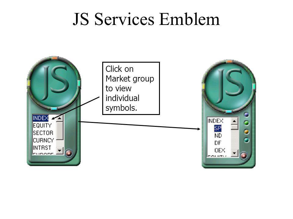 JS Services Emblem Click on Market group to view individual symbols.