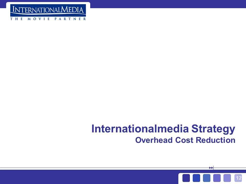 12 Internationalmedia Strategy Overhead Cost Reduction