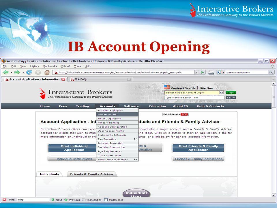 IB Account Opening