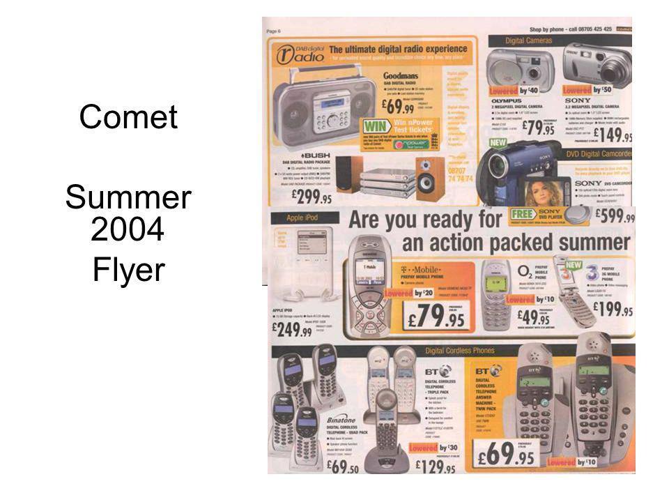 Comet Summer 2004 Flyer