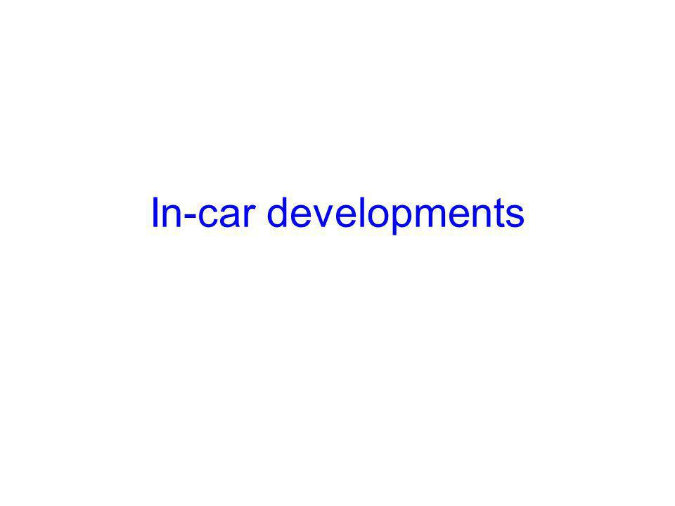 In-car developments