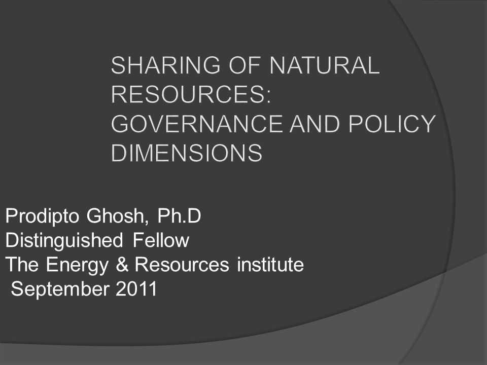Issues for Policy Making What are the (legitimate) objectives of policy making.