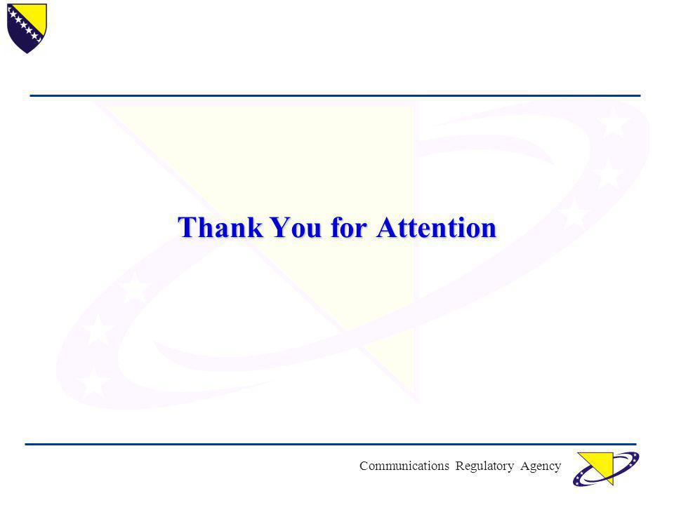 Communications Regulatory Agency Thank You for Attention