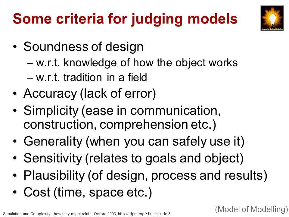 Simulation and Complexity - how they might relate, Oxford 2003, http://cfpm.org/~bruce slide-39 Example 2: inference and induction of preference models (Examples)