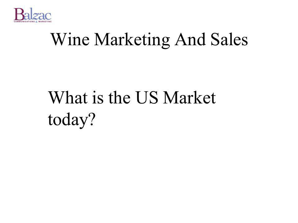What is the US Market today? Wine Marketing And Sales
