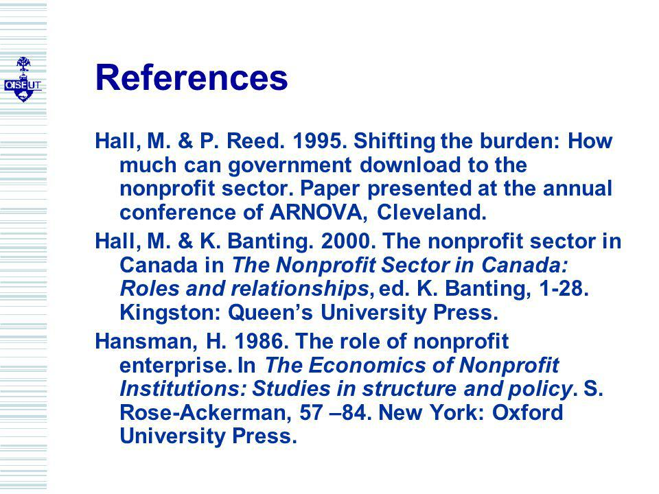 References Hall, M. & P. Reed. 1995.
