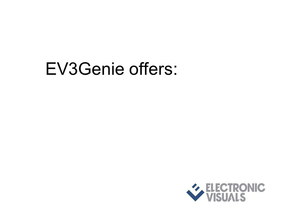 EV3Genie offers: with 3G level A/B - Dual-Link - fibre conversions and full featured video & audio test pattern generator