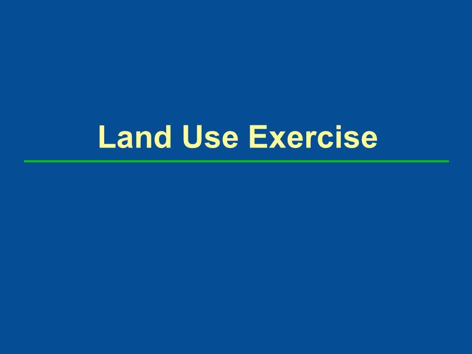 Land Use Exercise
