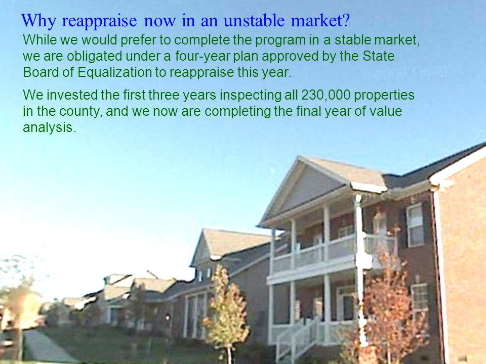 Why reappraise now in an unstable market.