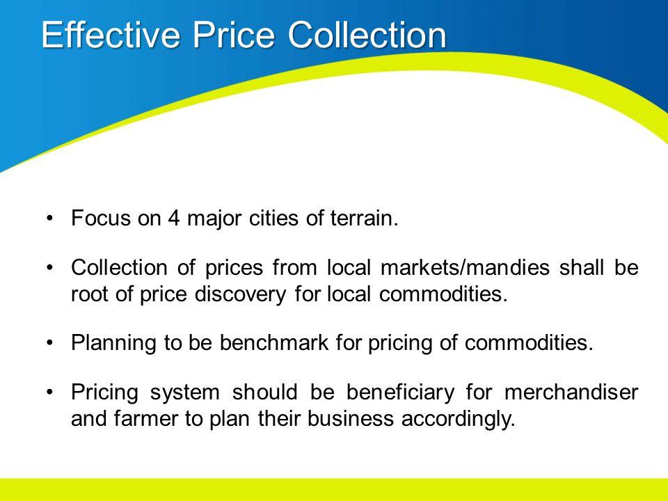 Effective Price Collection Focus on 4 major cities of terrain.
