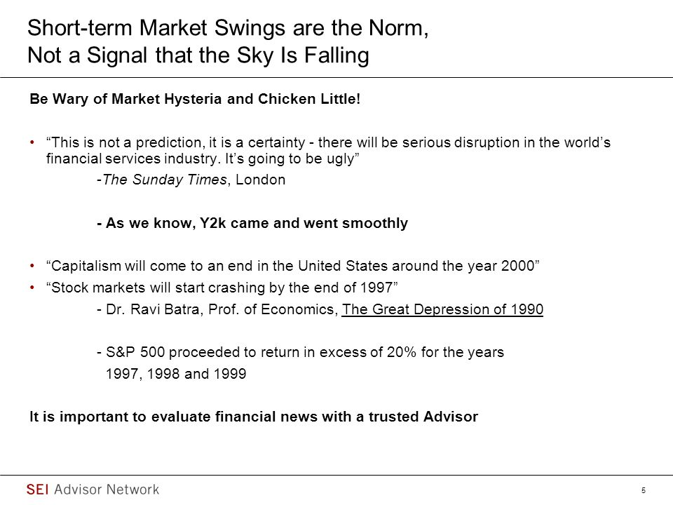 6 Pundits and Media Contribute to the Hysteria… Source: Bloomberg Jan.