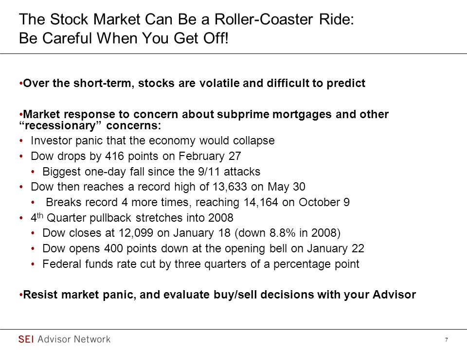 8 If a Recession is Underway, It Would Keep the Market in Retreat But It Could Also Lead to an Investment Opportunity Source: Ned Davis Research; S& P 500 Index returns based 10 post-war recessions, Recession Could Lead to Table Pounding Buy, January 14, 2008 Average Performance Before, During & After recessionAverage & Median Performance from S&P500 Low During Recession (i.e.