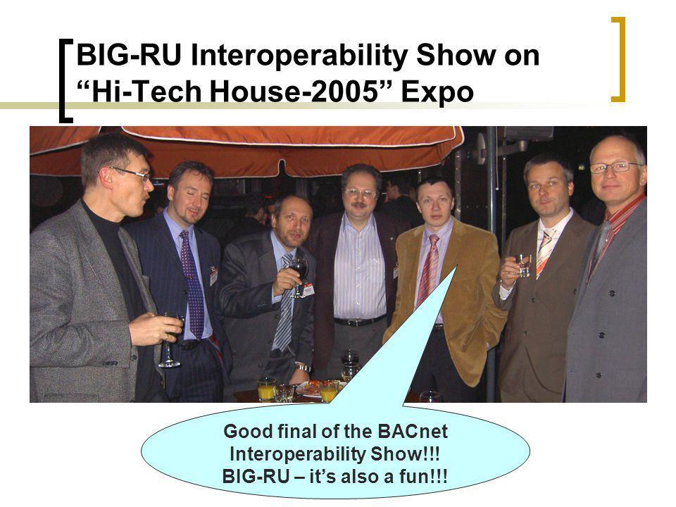 BIG-RU Interoperability Show on Hi-Tech House-2005 Expo Good final of the BACnet Interoperability Show!!.