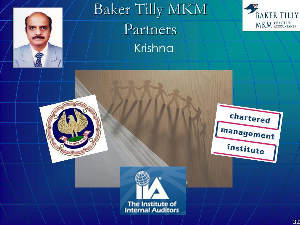 32 Baker Tilly MKM Partners Krishna