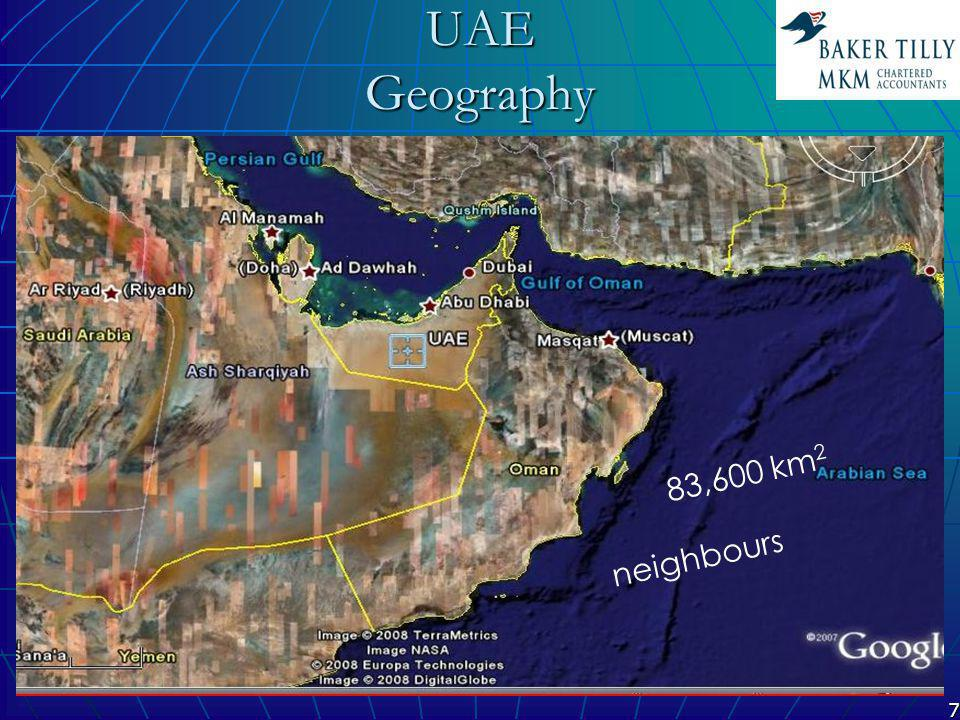 18 Baker Tilly MKM Locations Dubai x3 Abu-Dhabi x2 Sharjah x1 Muscat x1Ajman x1 Ras Al-Khaima x1