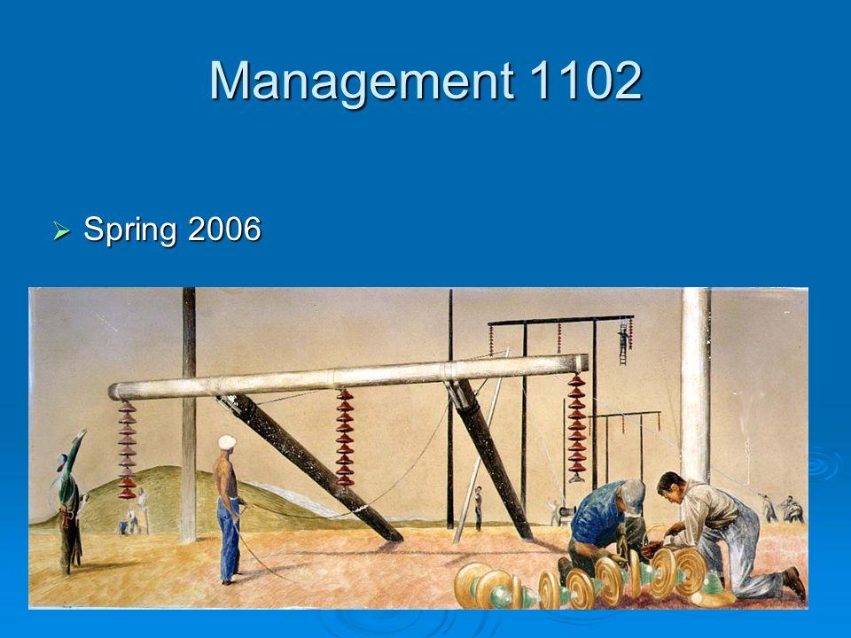 Management 1102 Spring 2006 Spring 2006