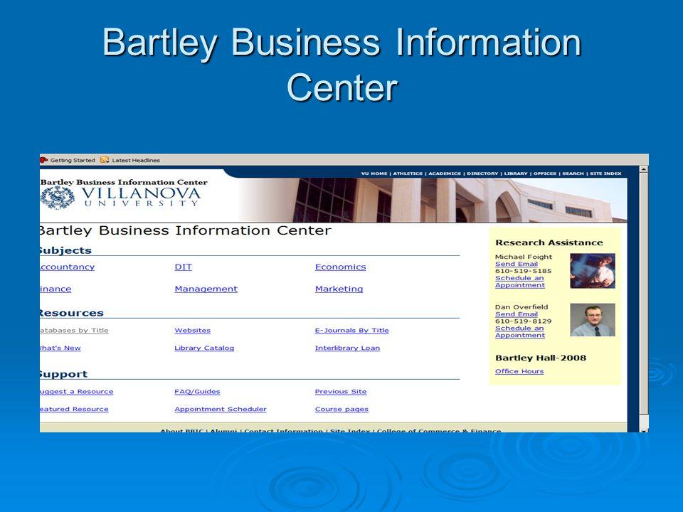 Bartley Business Information Center