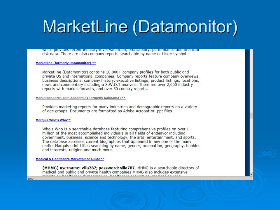 MarketLine (Datamonitor)