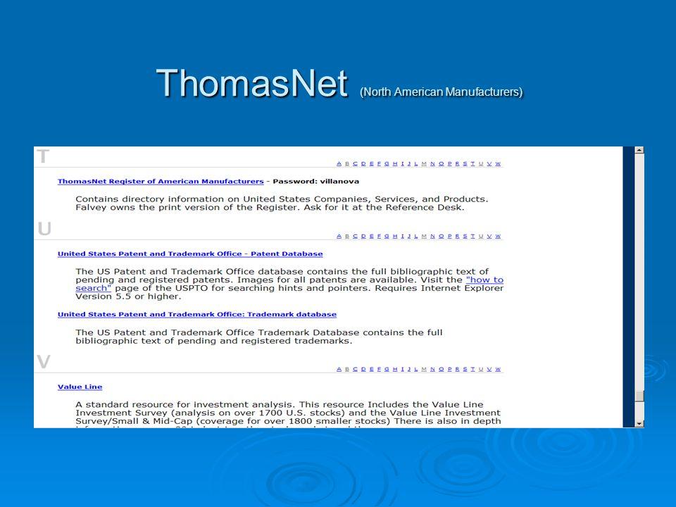 ThomasNet (North American Manufacturers)