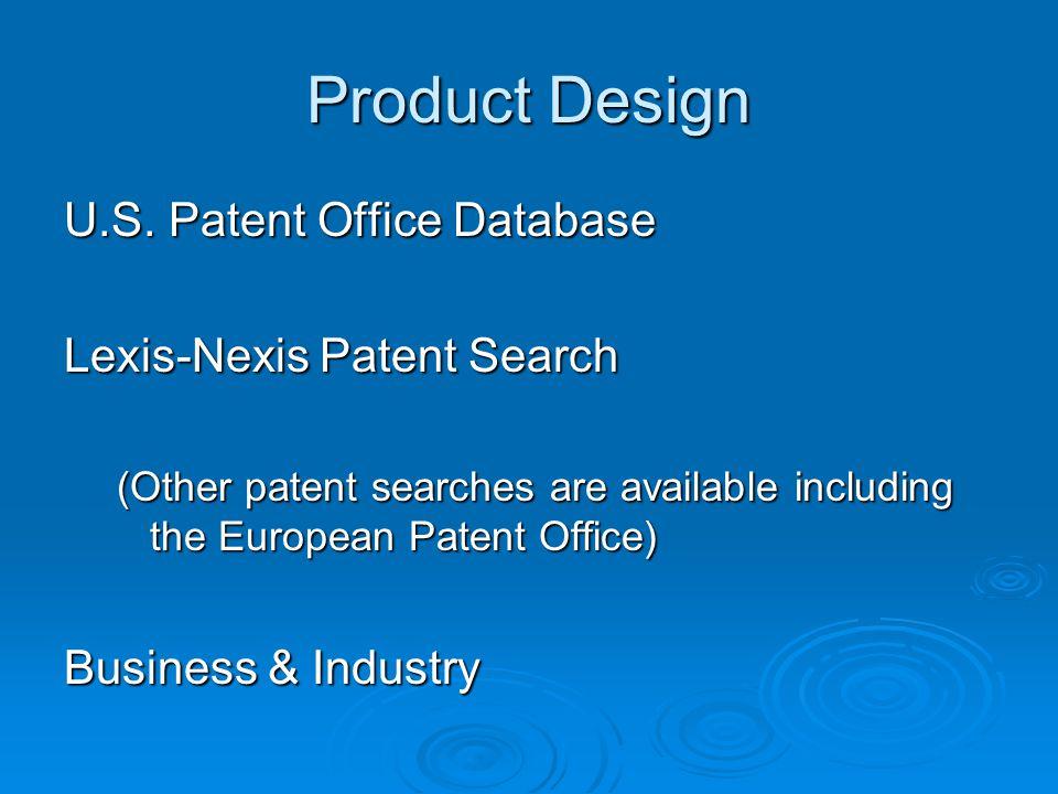 Product Design U.S.