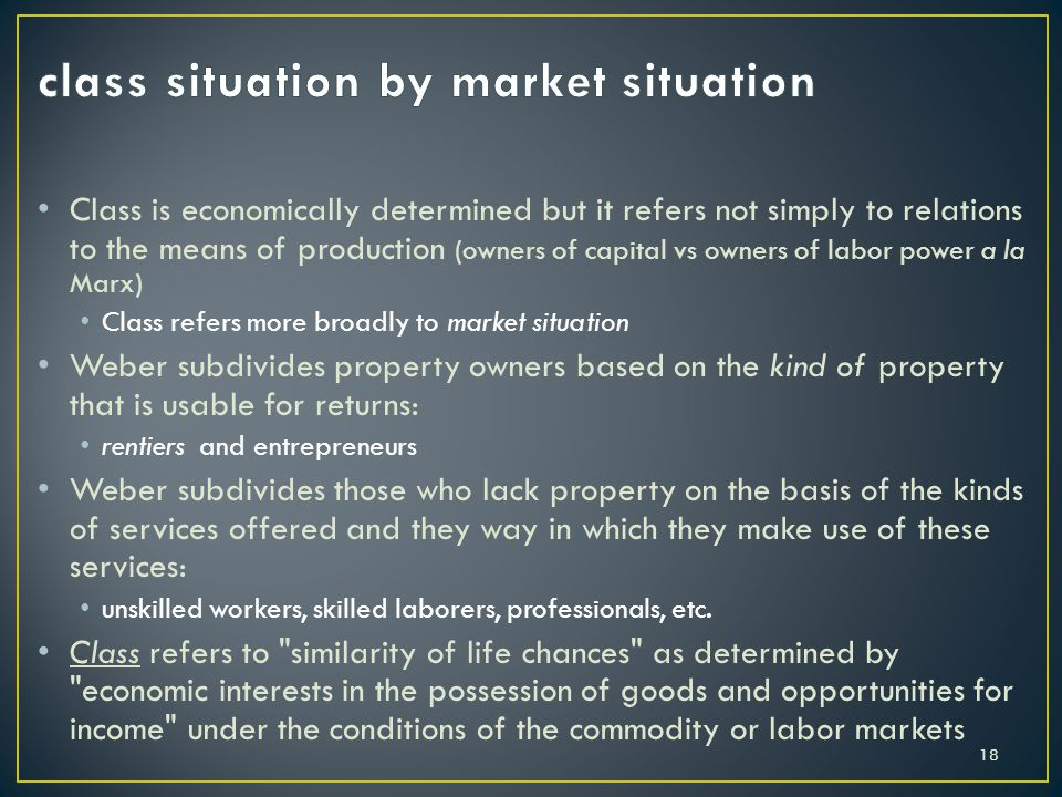 Class is economically determined but it refers not simply to relations to the means of production (owners of capital vs owners of labor power a la Mar