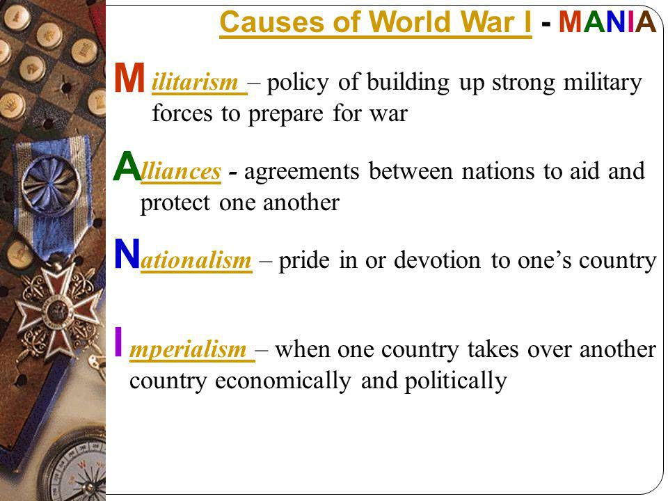 Causes of WWI - I mperialism