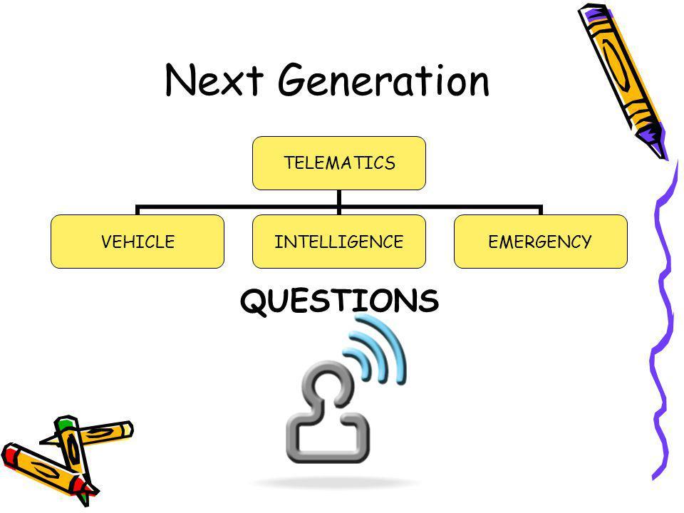 Next Generation QUESTIONS TELEMATICS VEHICLEINTELLIGENCEEMERGENCY