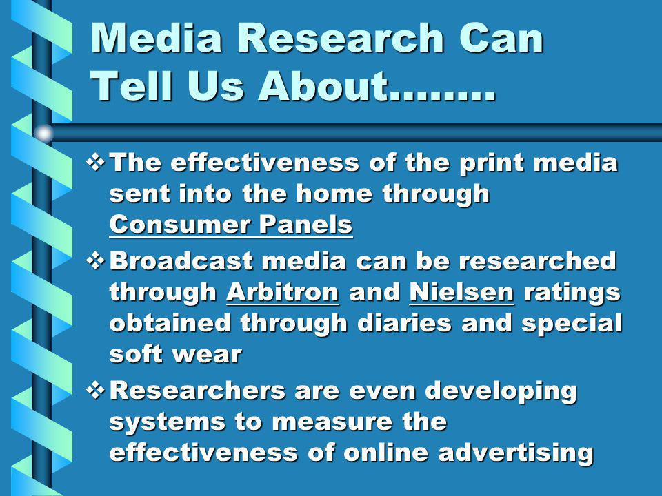 Media Research Can Tell Us About……..