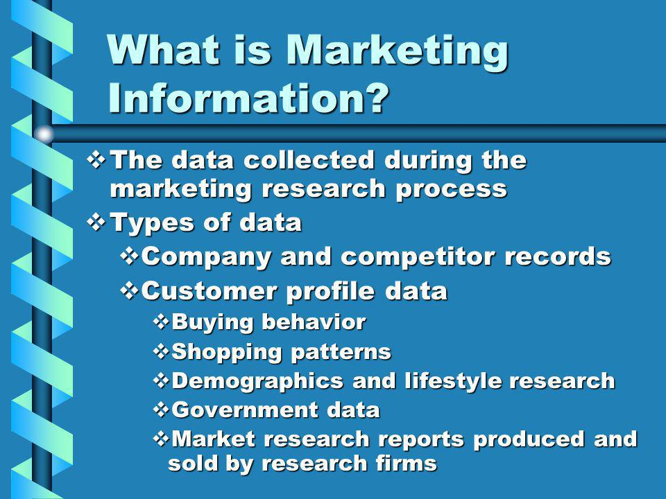What is Marketing Information.