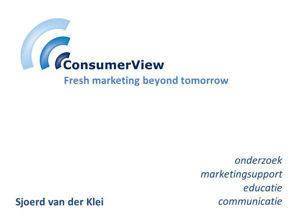 Fresh marketing beyond tomorrow onderzoek marketingsupport educatie communicatie Sjoerd van der Klei