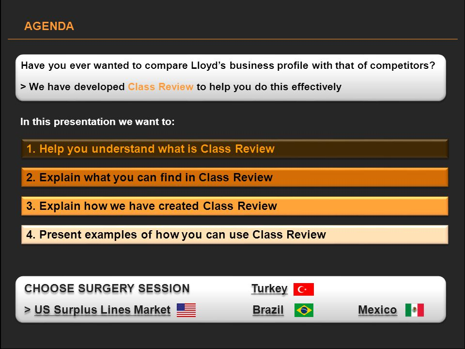 > We have developed Class Review to help you do this effectively Have you ever wanted to compare Lloyds business profile with that of competitors.