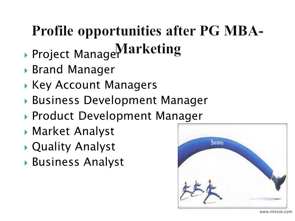 Project Manager Brand Manager Key Account Managers Business Development Manager Product Development Manager Market Analyst Quality Analyst Business Analyst