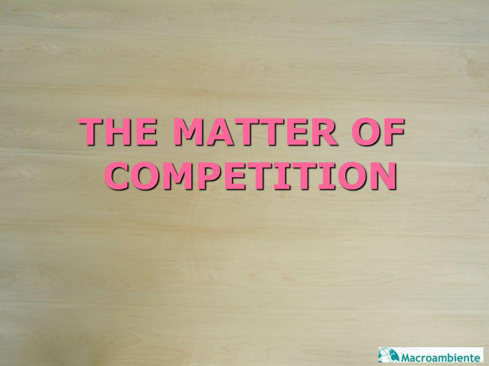 THE MATTER OF COMPETITION