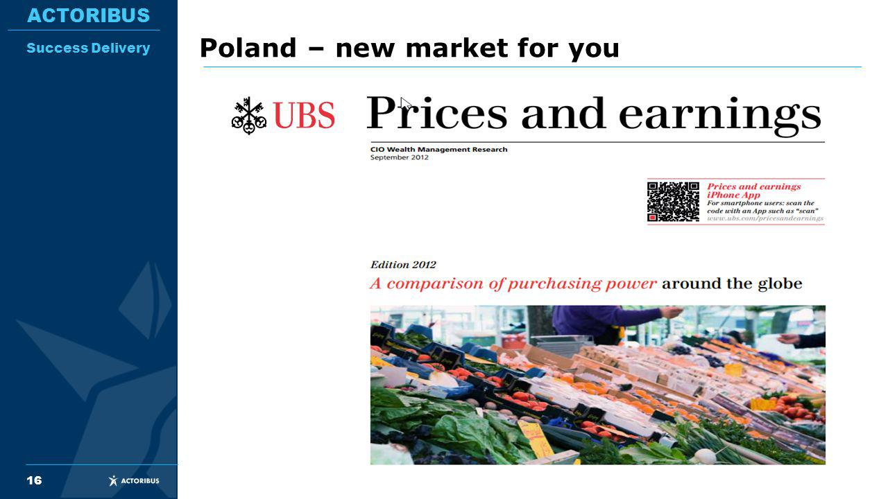 16 ACTORIBUS Success Delivery Poland – new market for you