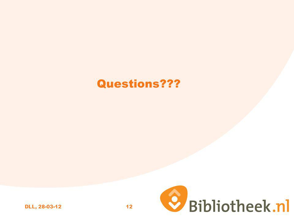 12 Questions DLL, 28-03-12
