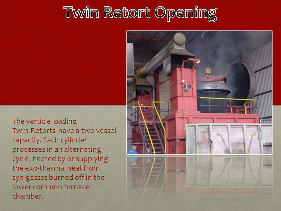 The verticle loading Twin-Retorts have a two vessel capacity.